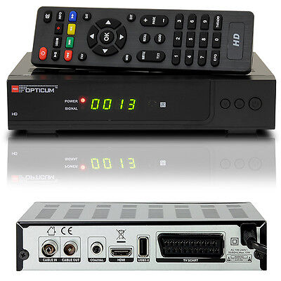 HDTV HD FULL Digital KABEL Receiver OPTICUM AX C100 HDMI Scart DVB-C USB DVB-C2