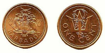 Barbados 1997 1 Cent 10 Uncirculated Coin Lot