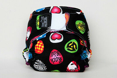 Guitar Picks modern cloth nappy - an eatmyfeet product