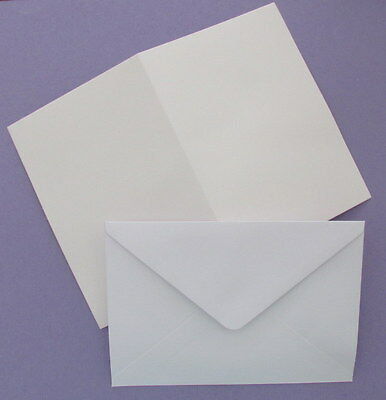 Pack of 25 Blank White A6 Cards 250 GSM & C6 Envelopes for Cardmaking NEW
