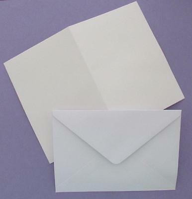 10 Blank White A6 Cards 250 GSM & C6 Envelopes for Cardmaking Cardstock NEW
