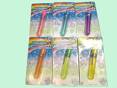 Touchable Bubbles Choose Your Colour Tube & Wand The Catchable Party Bag Fillers