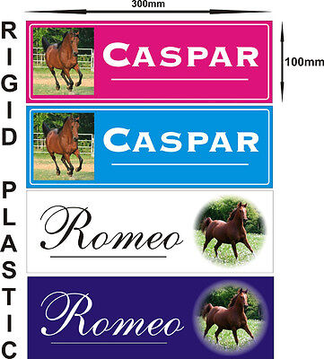 Personalised horse stable door name plate plaque sign add your photo gift idea