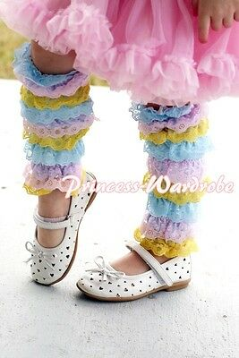 Xmas Baby Girl Rainbows Lace Leg Warmer Stocking Accessory For Pettiskirt 2-6Y
