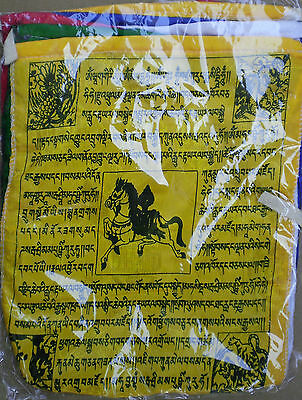 """Wind Horse Prayer Flags 8"""" Roll for Dharma Practice 100% Silk"""