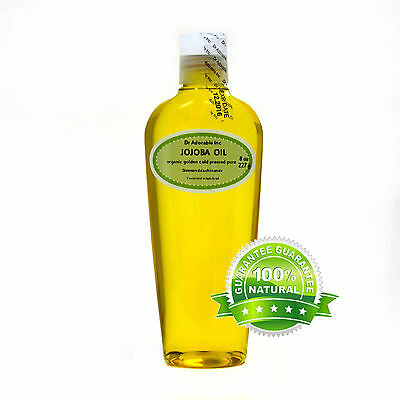 PURE 8 OZ JOJOBA OIL ORGANIC GOLDEN COLD PRESSED