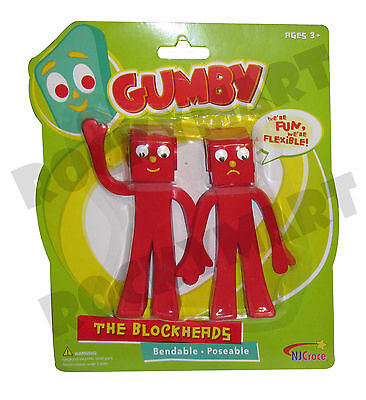 GUMBY BLOCKHEADS Bendables 2-Pack TV Cartoon Toy Figures