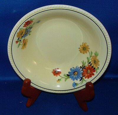 """Golden Maire by Sebring Pottery 5 1/4"""" side dish """"The Nile Daisy"""" pattern InvO50"""