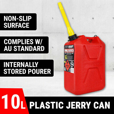 Jerry Can 10L Plastic Fuel Can Petrol Fuel Storage Container Australian Made