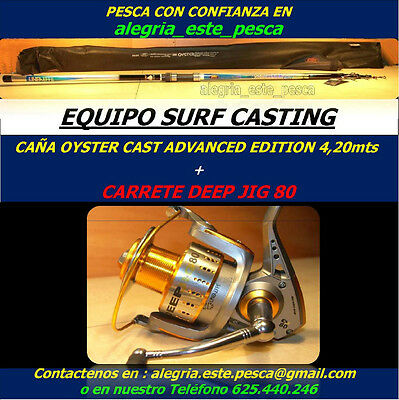 PESCA EQUIPO SURF CASTING (OYSTER CAST ADVANCED EDITION 4.20mts + DEEP JIG 80)