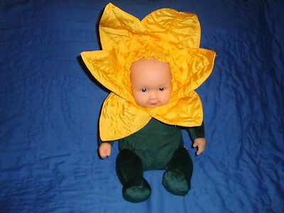 "Anne Geddes Sunflower 2005 Plush Beanbag 13"" Doll"