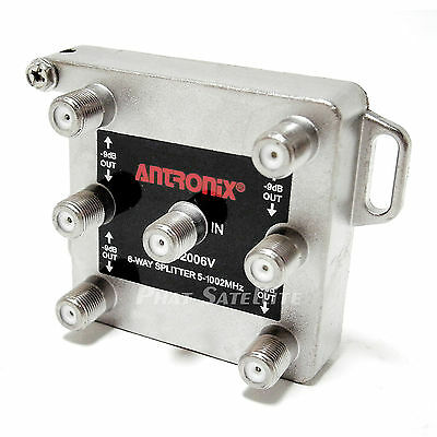 Antronix 6-way RG6 Splitter Coaxial Signal CMC2006V Cable HDTV 1GHz 1002MHz