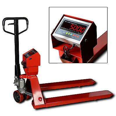 New 5000 lb/1lb Pallet Truck Scale | Pallet Jack Scale with Indicator Free Ship