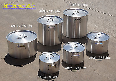 Gauge Stock Pot Aluminium 9 Litre #AM-24,Camping Home Kitchen Cooking Pot,New