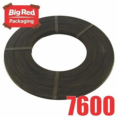 19mm x 180m Black Heavy Band Steel Strap 880kg load Strapping Packing 15kg Roll