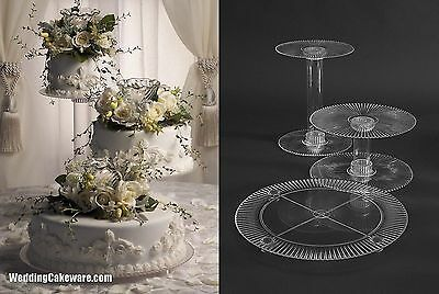 3 TIER CASCADE WEDDING CAKE STAND STANDS