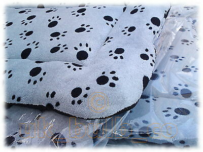 Quilted Dog Pillow bedding Bed Padded Grey & Black Paw Print Sizes S M L XL XXL