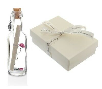 Unique Christening Gift for Girl PERSONALISED Keepsake Message In a Bottle