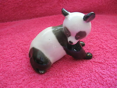 "Panda Bear-Porcelain-Made in Russia-4 1/4"" long-3 3/8"" tall-excellent condition"