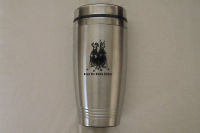 NEW Insulated Travel Mug, Stainless Steel, holds 16 oz.