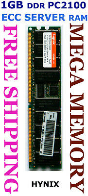 HYNIX 1GB DDR PC2100 ECC Registered SERVER Memory @Syd Fast FREE POST