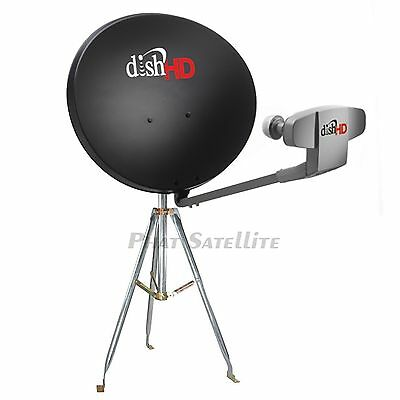 DISH Network 1000.2 HD Satellite DISH Antenna CAMPING COMPLETE MOBILE TRIPOD SET