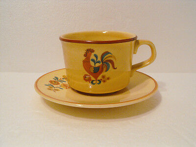 Cup And Saucer Set Taylor Smith Taylor  U.s.a. Reveille Reveille Rooster