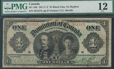 TMM# 1911 Dominion of Canada Earl & Countess of Grey $1 P#27b PMG F12 DC18d
