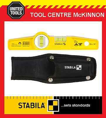 """STABILA TYPE 81 SM 25cm / 10"""" MAGNETIC TORPEDO SPIRIT LEVEL WITH POUCH"""
