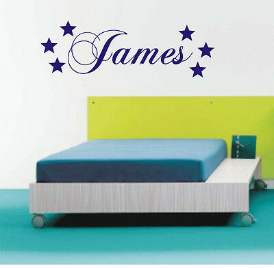 Personalised Star wall art sticker name, style A, any name avalible - p.1431