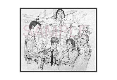 Rambo First Blood Sylvester Stallone Drawing movie Poster Limited Edition Art
