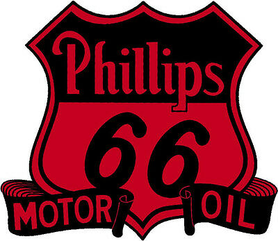 Phillips 66 Motor Oil Vinyl Sticker (A946) 12 Inch