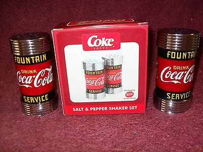 Coca-Cola CHROME Salt & Pepper Shaker Set