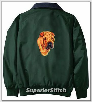 SHAR PEI embroidered Challenger jacket ANY COLOR B