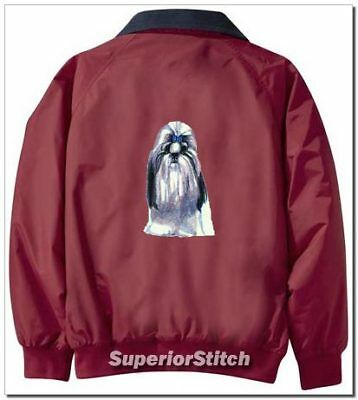 SHIH TZU embroidered Challenger jacket ANY COLOR B