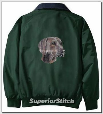 WEIMARANER embroidered Challenger jacket ANY COLOR B