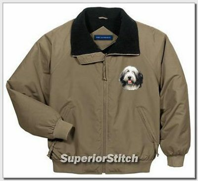 BEARDED COLLIE embroidered Challenger jacket ANY COLOR