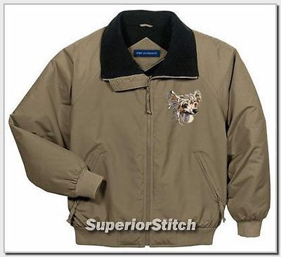 CHINESE CRESTED embroidered challenger jacket ANY COLOR