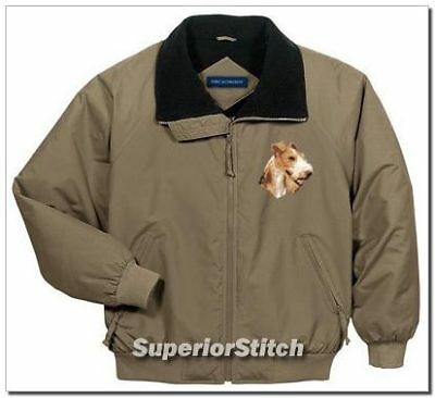 FOX TERRIER embroidered challenger jacket ANY COLOR