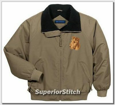 IRISH TERRIER embroidered challenger jacket ANY COLOR