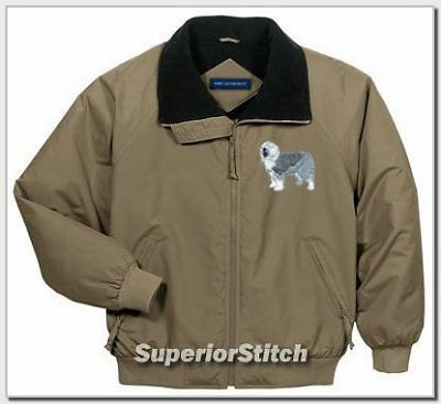 OLD ENGLISH SHEEPDOG challenger jacket ANY COLOR