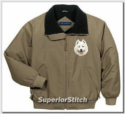 SAMOYED embroidered challenger jacket ANY COLOR