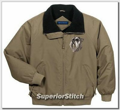 SCHNAUZER embroidered challenger jacket ANY COLOR