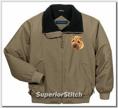 SHAR PEI embroidered challenger jacket ANY COLOR