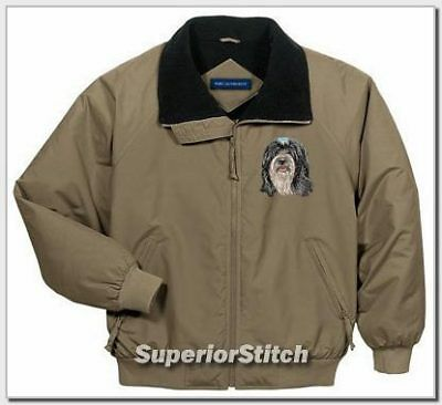 TIBETAN TERRIER embroidered challenger jacket ANY COLOR