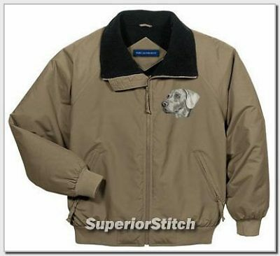 WEIMARANER embroidered challenger jacket ANY COLOR