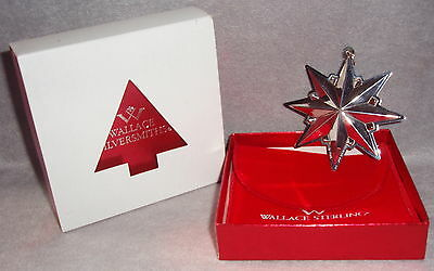 1995 Wallace 3rd Annual Limited Edition Sterling Silver Star Christmas Ornament