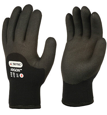 1 x Pair Of Skytec Argon HPT Foam Cold Grip Gloves Winter Safety Thermal Work