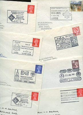 Scouting 1970-72 Special Postmarks + Events...24 Covers