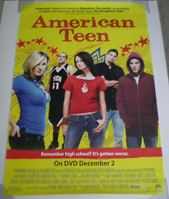 AMERICAN TEEN DVD MOVIE POSTER 1 Sided ORIGINAL 27x40